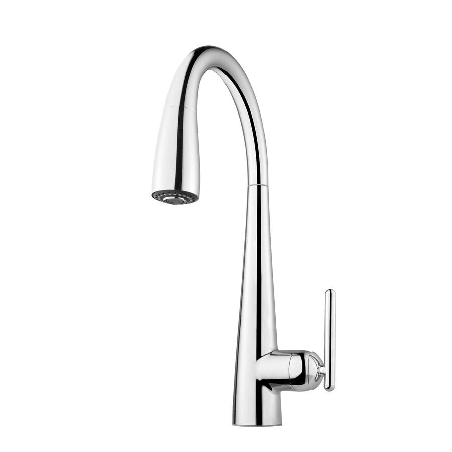 Pfister Kitchen Faucet Shop Pfister Lita Midnight Chrome 1 Handle Pull Down Kitchen