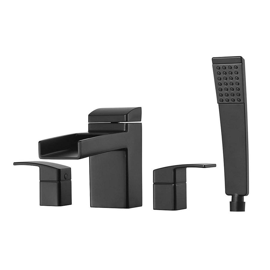 Pfister Kenzo Black 2-Handle Adjustable Deck Mount Bathtub Faucet