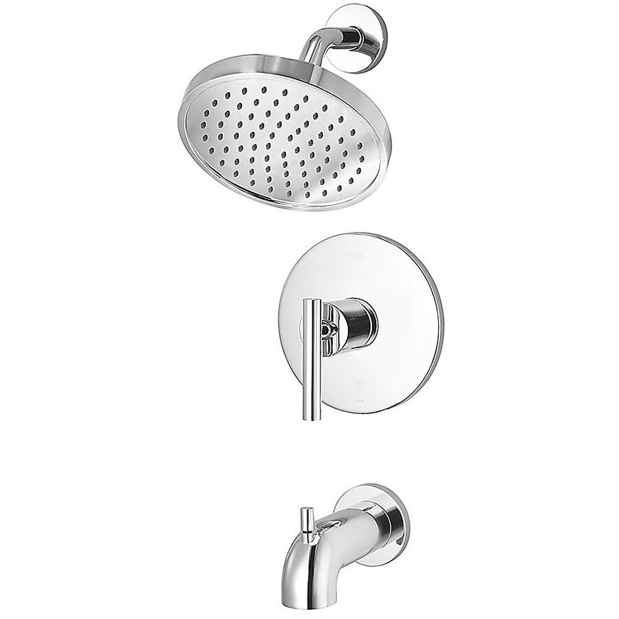 Pfister Contempra Polished Chrome 1-Handle WaterSense Bathtub and Shower Faucet Trim Kit with Single Function Showerhead
