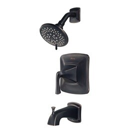 Pfister Selia Tuscan Bronze 1-Handle Bathtub and Shower Faucet with Valve