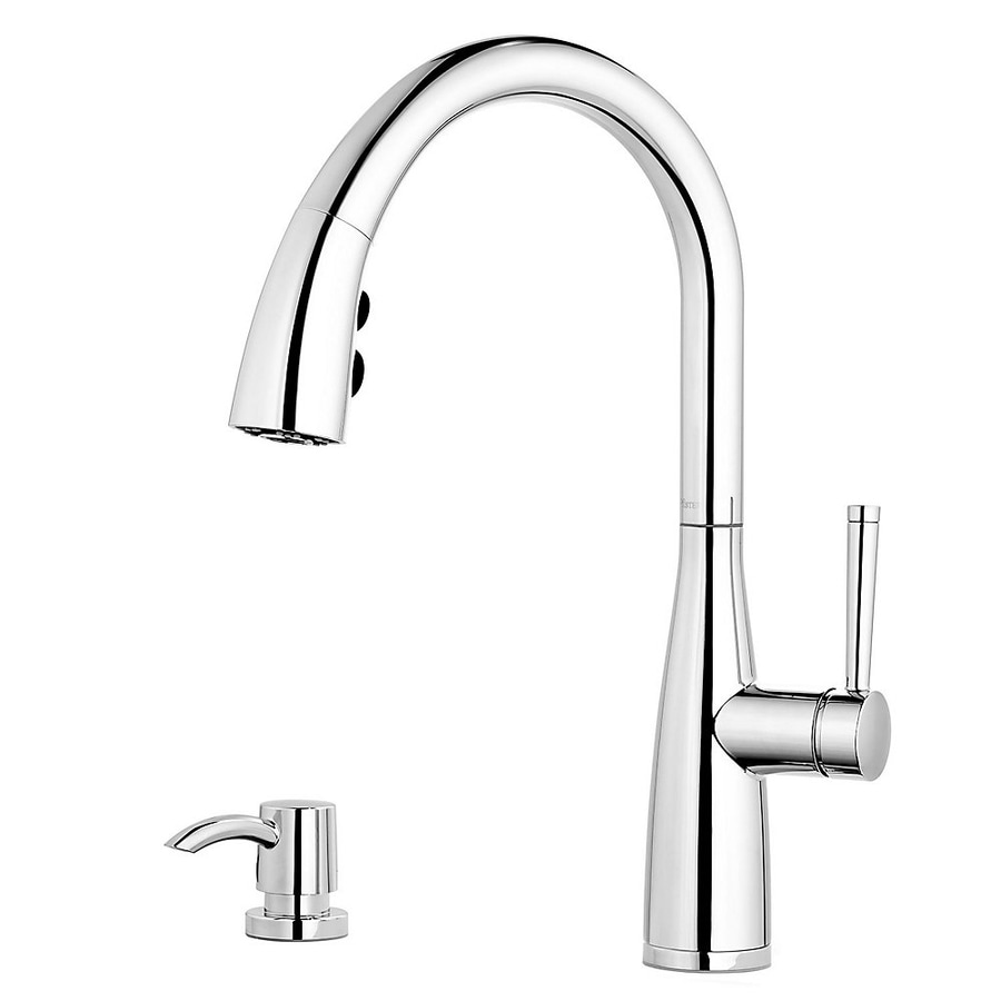 Shop Pfister Raya Polished Chrome 1 Handle Pull Down Kitchen Faucet At