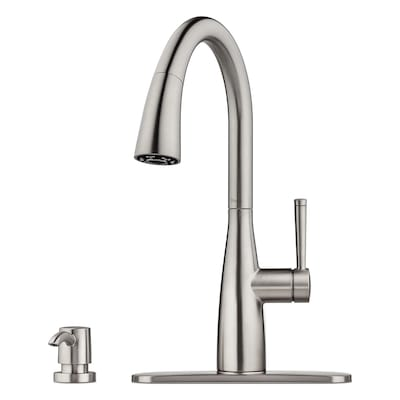 Raya Stainless Steel 1-Handle Pull-Down Kitchen Faucet