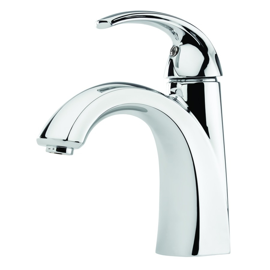Lowes Bathroom Faucet | Shop Pfister Selia Polished Chrome 1 Handle Single Hole 4 In