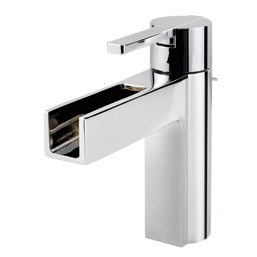 Pfister Vega Polished Chrome 1-Handle 4-in Centerset WaterSense Bathroom Faucet (Drain Included)
