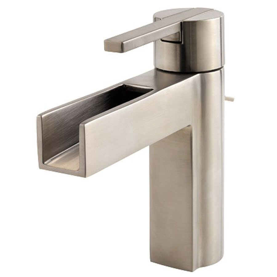 Pfister Vega Brushed Nickel 1-handle 4-in Centerset Bathroom Faucet