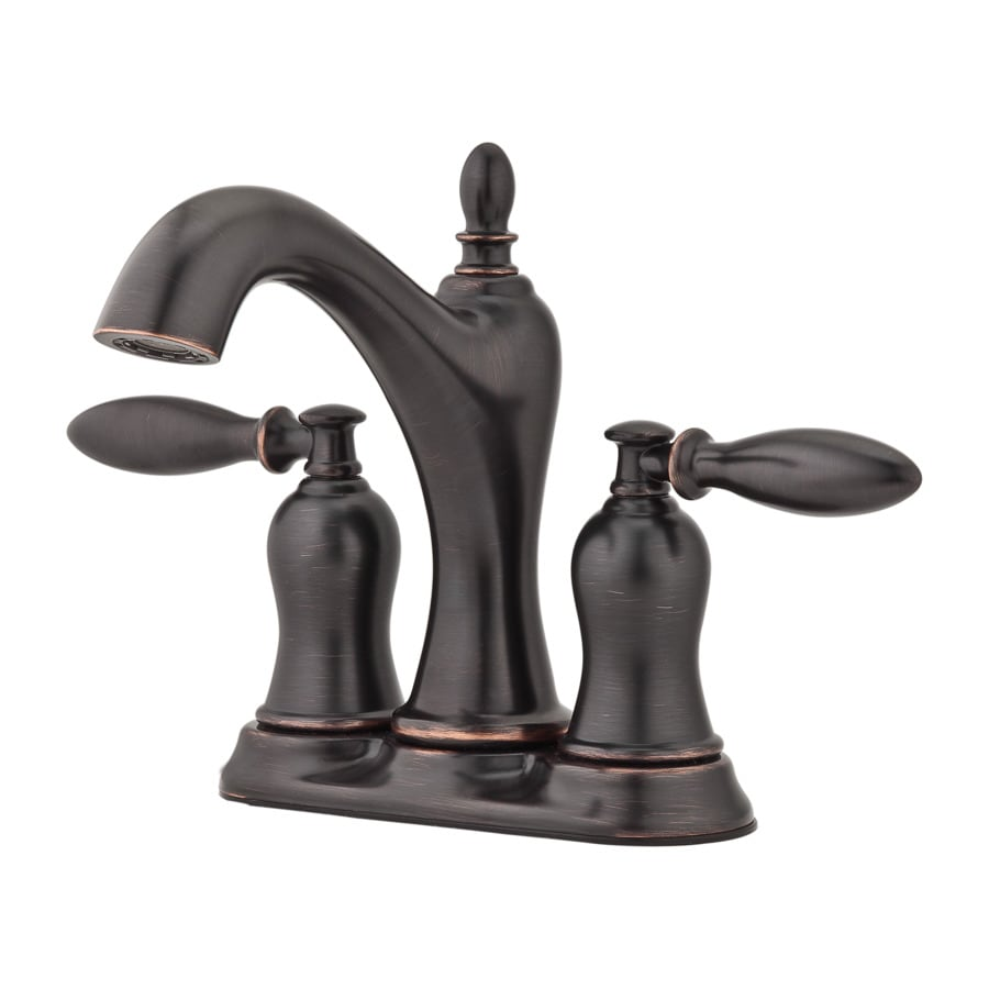 Pfister Arlington Tuscan Bronze 2-Handle 4-in Centerset WaterSense Bathroom Faucet with Drain