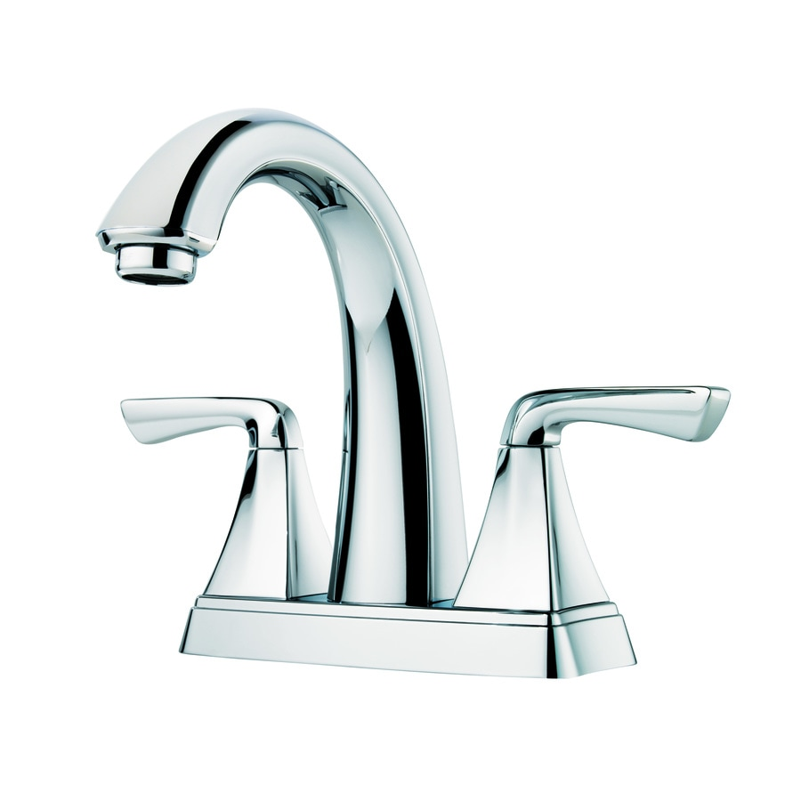 Shop Pfister Selia Polished Chrome Handle In Centerset Bathroom - Pfister selia bathroom faucet
