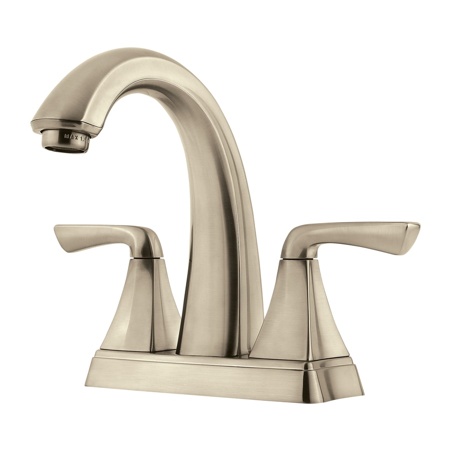 pfister selia kitchen faucet shop pfister selia brushed nickel 2 handle 4 in centerset 21254
