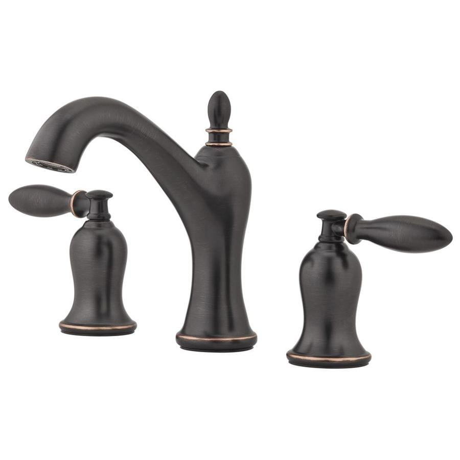 shop brushed pfizer nickel pfister widespread pd bathroom faucets handle breckenridge faucet
