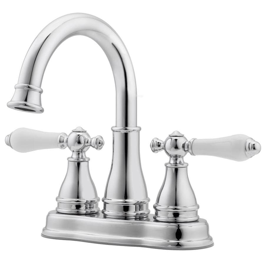Pfister Sonterra Polished Chrome 2 Handle 4 in Centerset WaterSense Bathroom  Faucet  Drain. Shop Bathroom Faucets at Lowes com