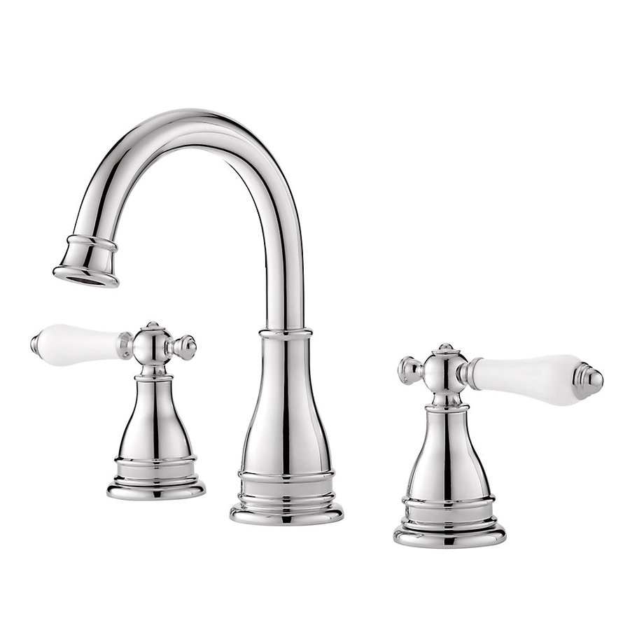 Lowes Bathroom Fixtures shop pfister sonterra polished chrome 2-handle widespread bathroom
