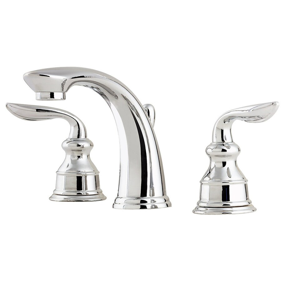 Pfister Avalon Polished Chrome 2-Handle Widespread WaterSense Bathroom Faucet (Drain Included)