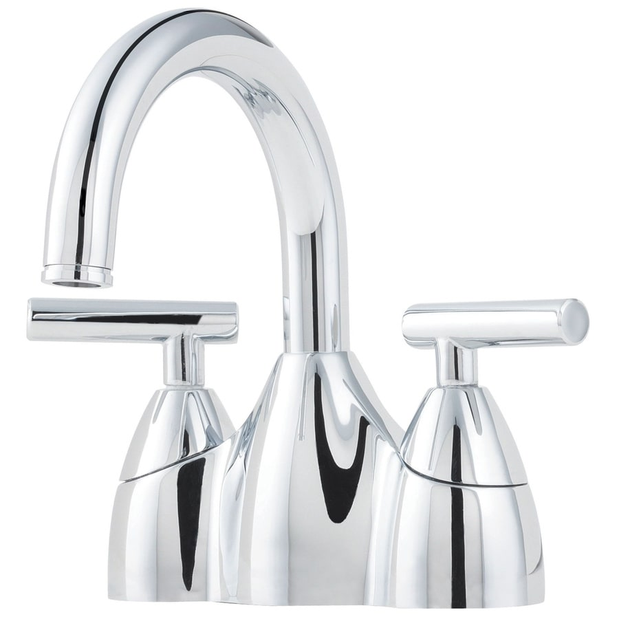 Pfister Contempra Polished Chrome 2-Handle 4-in Centerset WaterSense Bathroom Faucet (Drain Included)