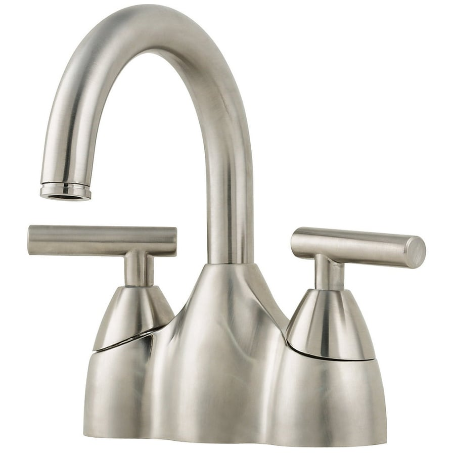 pfister bathroom sink faucets shop pfister contempra brushed nickel 2 handle 4 in 19953
