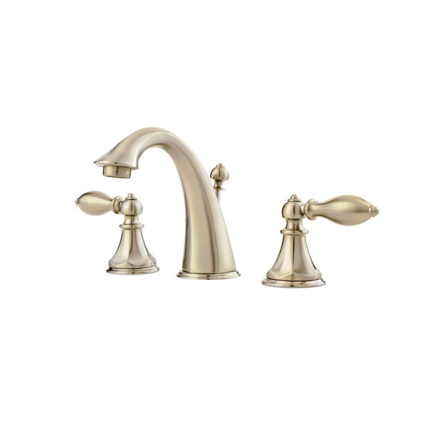 Bathroom Faucets Brushed Nickel Widespread : Catalina Brushed Nickel 2-Handle Widespread WaterSense Bathroom Faucet ...