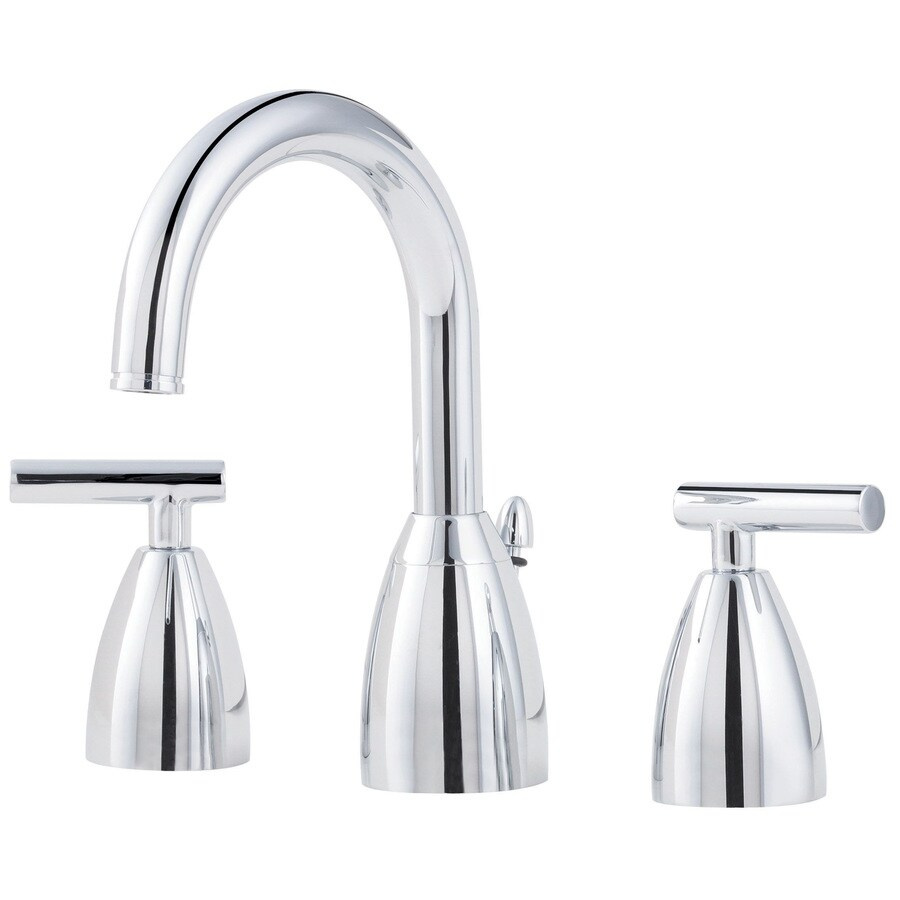 Pfister Contempra Polished Chrome 2-Handle Widespread WaterSense Bathroom Faucet (Drain Included)