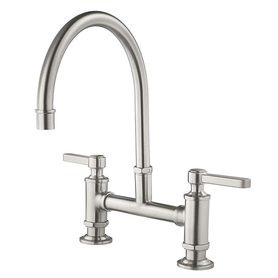Pfister Port Haven Stainless Steel 2-Handle Deck Mount High-arc Kitchen Faucet