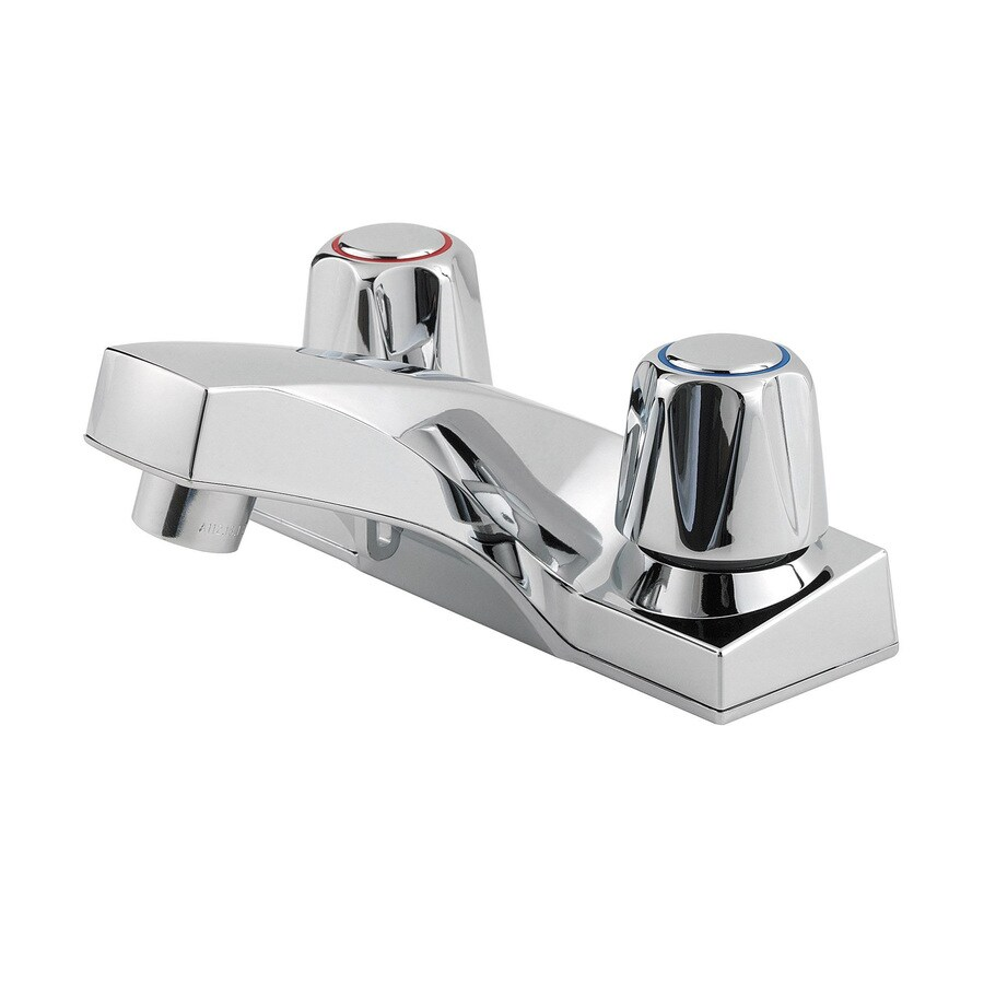 Pfister Pfirst Polished Chrome 2-Handle 4-in Centerset WaterSense Bathroom Faucet
