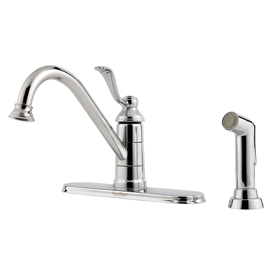 Pfister Portland Polished Chrome 1-Handle High-Arc Kitchen Faucet