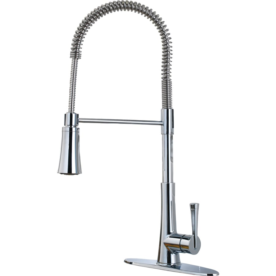 Pfister Zuri Polished Chrome 1 Handle Deck Mount Pre Rinse Kitchen Faucet