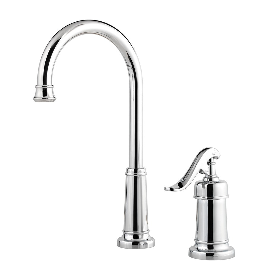 pfister faucets kitchen shop pfister ashfield polished chrome 1 handle deck mount 14541