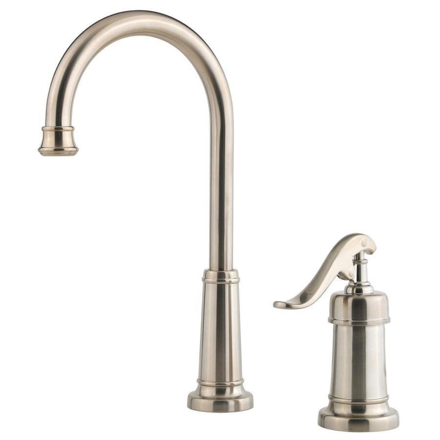 Pfister Ashfield Brushed Nickel 1-Handle Kitchen Faucet