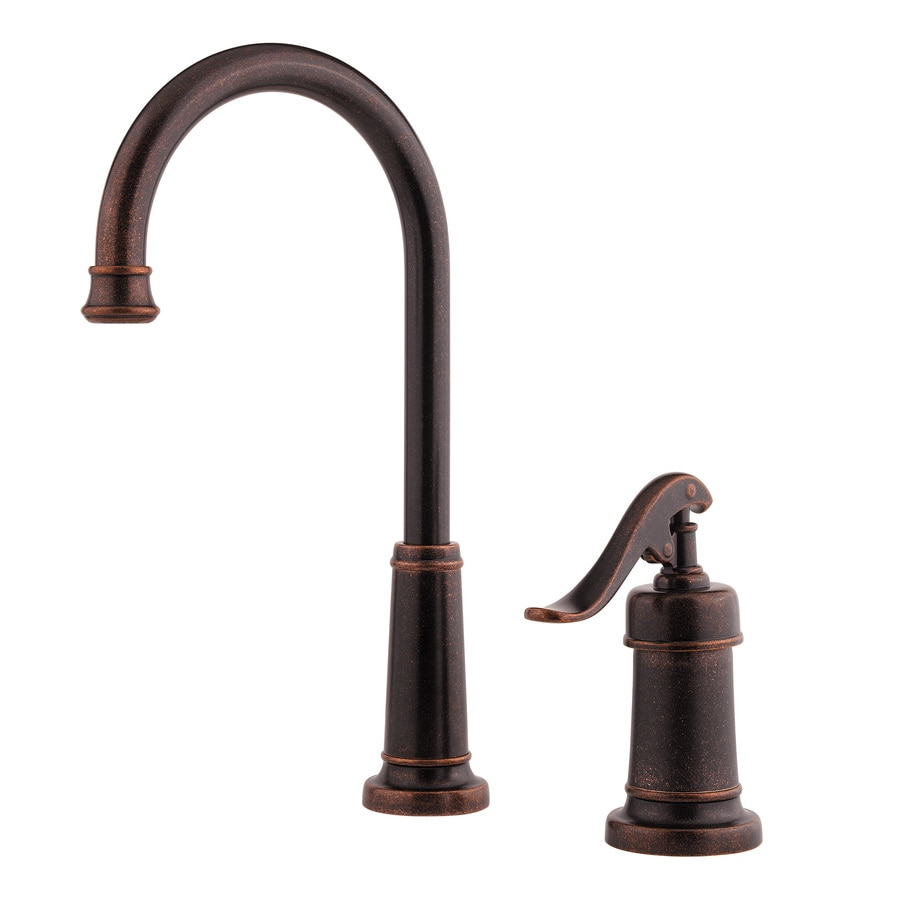 Pfister Ashfield Rustic Bronze 1-Handle Bar and Prep Faucet