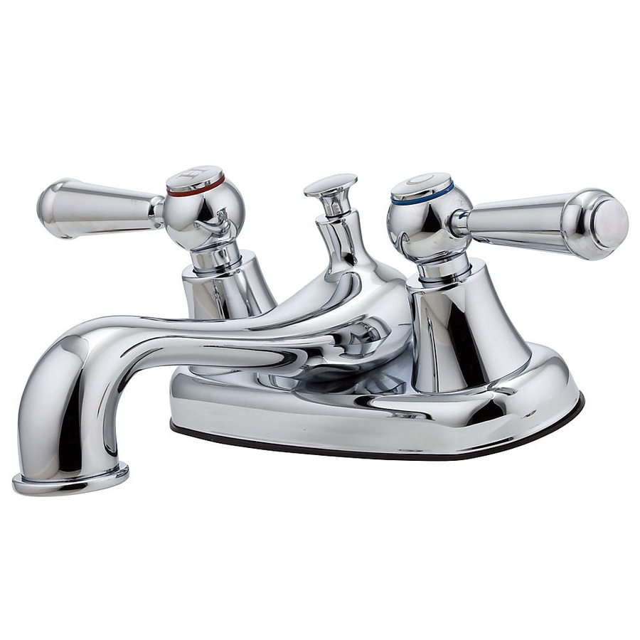 Pfister Pfirst Polished Chrome 2-Handle 4-in Centerset WaterSense Bathroom Faucet (Drain Included)