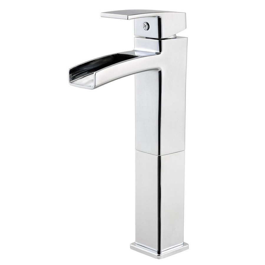 Pfister Kenzo Polished Chrome 1-Handle Single Hole/4-in Centerset WaterSense Bathroom Faucet