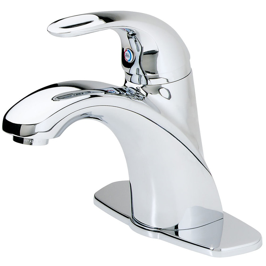 Pfister Parisa Polished Chrome 1-Handle 4-in Centerset WaterSense Bathroom Faucet (Drain Included)