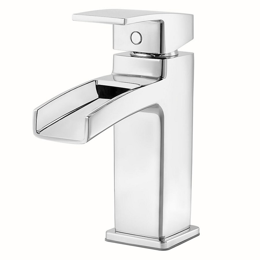 single hole bathroom sink faucet shop pfister kenzo polished chrome 1 handle single 24116