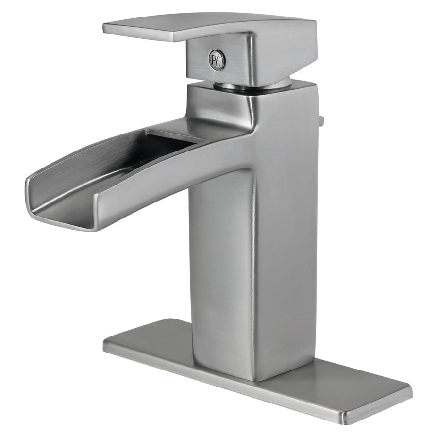 Pfister Kenzo Brushed Nickel 1-Handle 4-in Centerset WaterSense Bathroom Faucet (Drain Included)