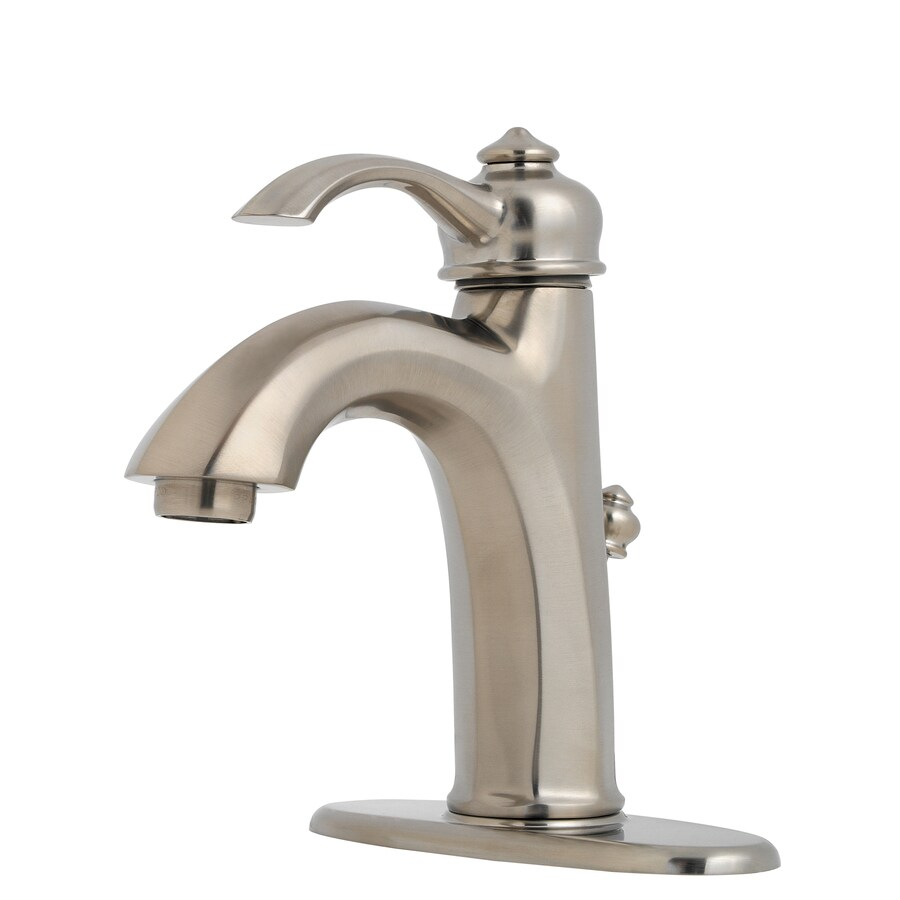 Pfister Portola Polished Chrome 1-Handle 4-in Centerset WaterSense Bathroom Faucet (Drain Included)