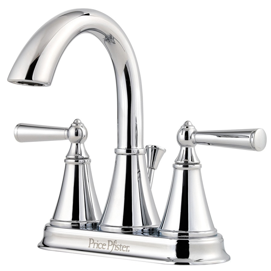 pfister bathroom sink faucets shop pfister saxton polished chrome 2 handle 4 in 19953