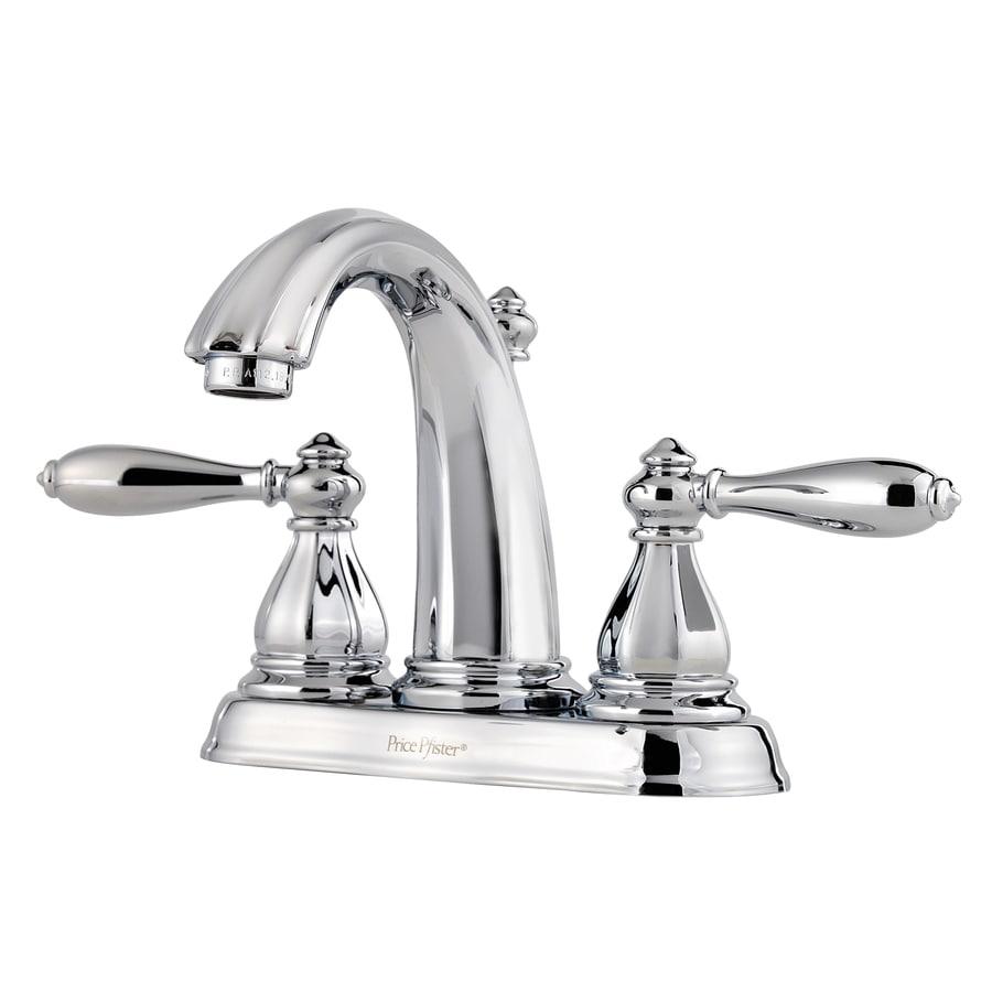Shop Pfister Portola Polished Chrome 2 Handle 4 In Centerset Watersense Bathroom Faucet Drain