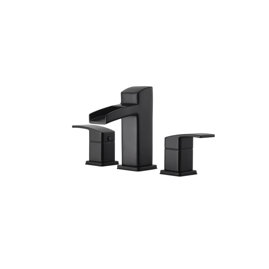 Pfister Kenzo Black 2 Handle Widespread WaterSense Bathroom Faucet (Drain  Included)