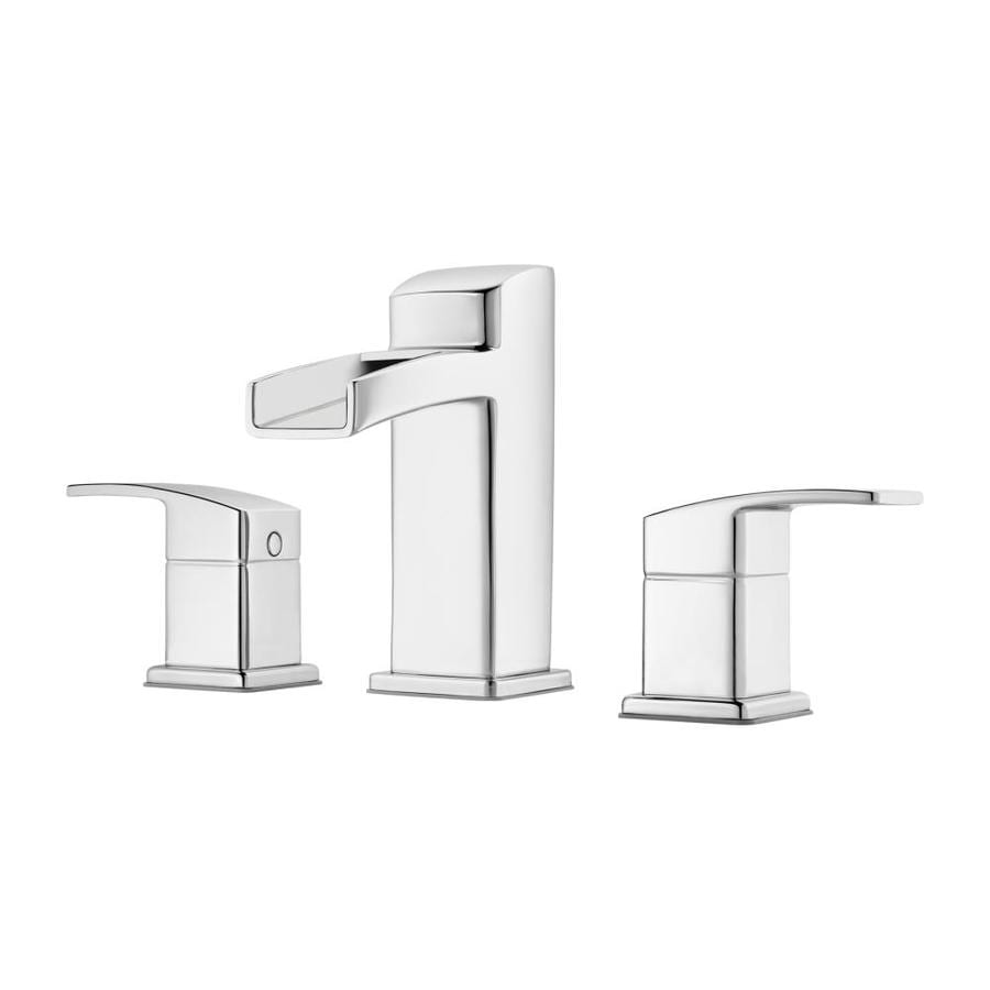 Pfister Kenzo Polished Chrome 2-Handle Widespread WaterSense Bathroom Faucet (Drain Included)