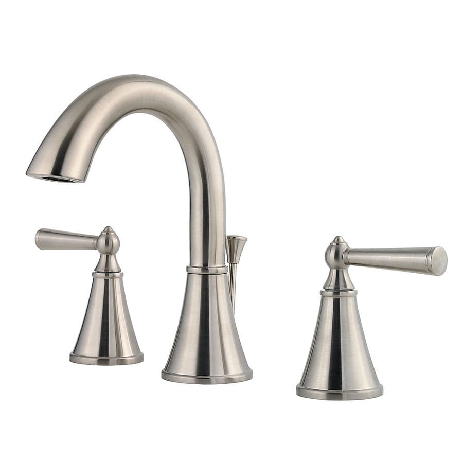 Pfister Saxton Brushed Nickel 2-Handle Widespread WaterSense Bathroom Faucet (Drain Included)