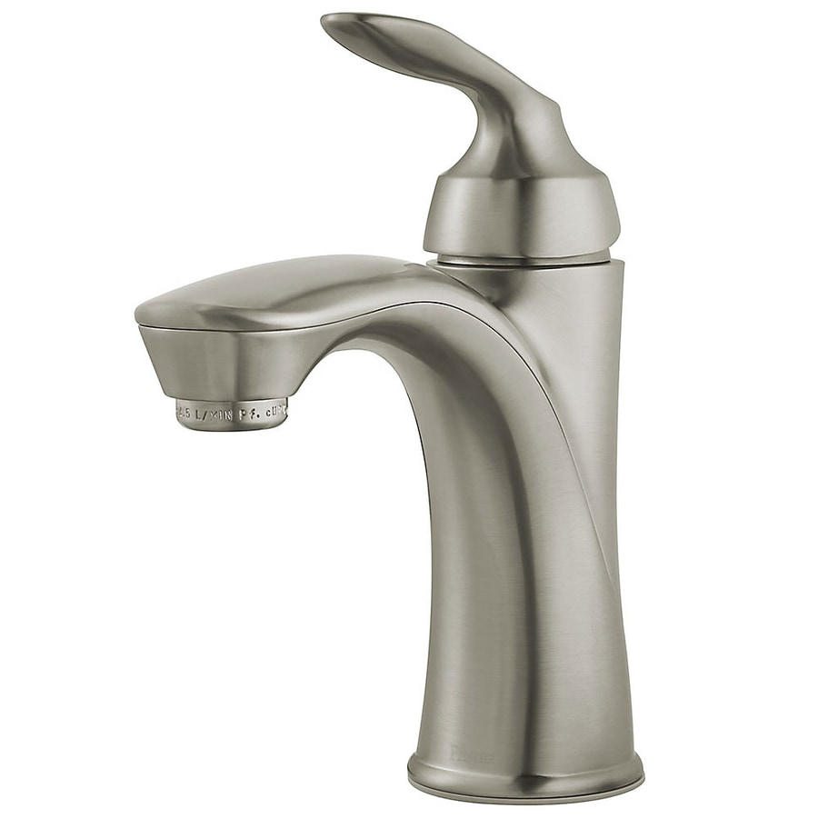 Pfister avalon brushed nickel 1 handle single hole - Single hole bathroom faucets brushed nickel ...