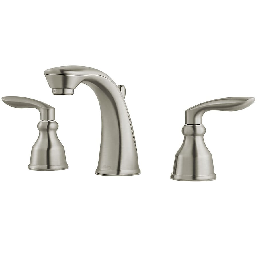 Bathroom Faucets Brushed Nickel Widespread : Avalon Brushed Nickel 2-Handle Widespread WaterSense Bathroom Faucet ...
