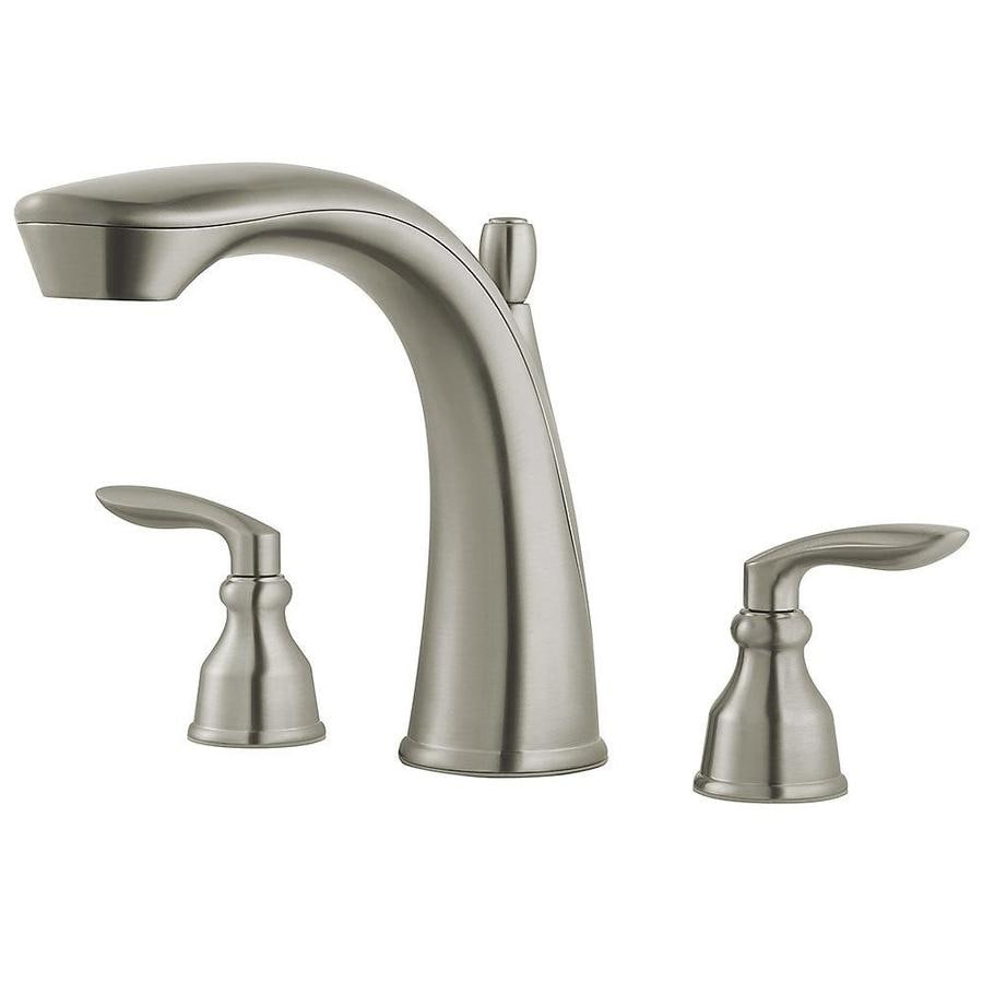 Pfister Avalon Brushed Nickel 2-Handle Deck Mount Bathtub Faucet