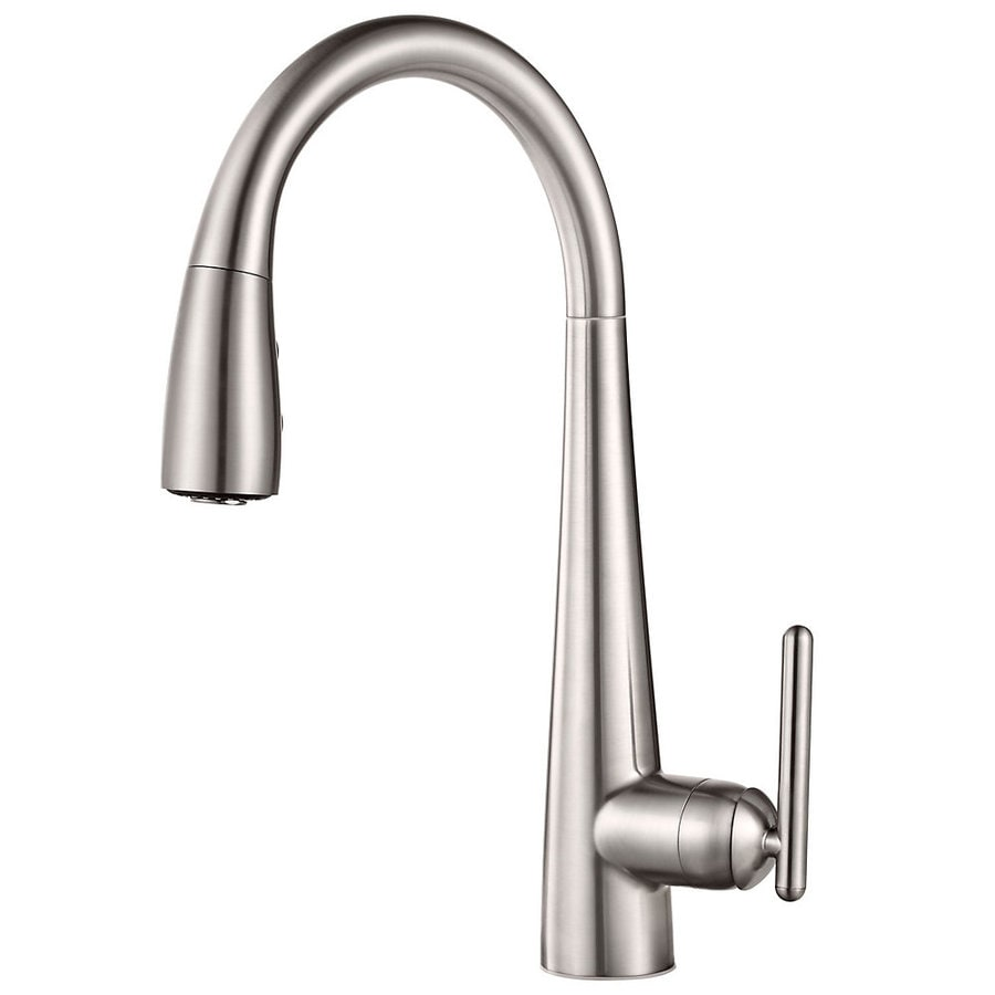Pfister Lita Stainless Steel 1-Handle Deck Mount Pull-down Kitchen Faucet