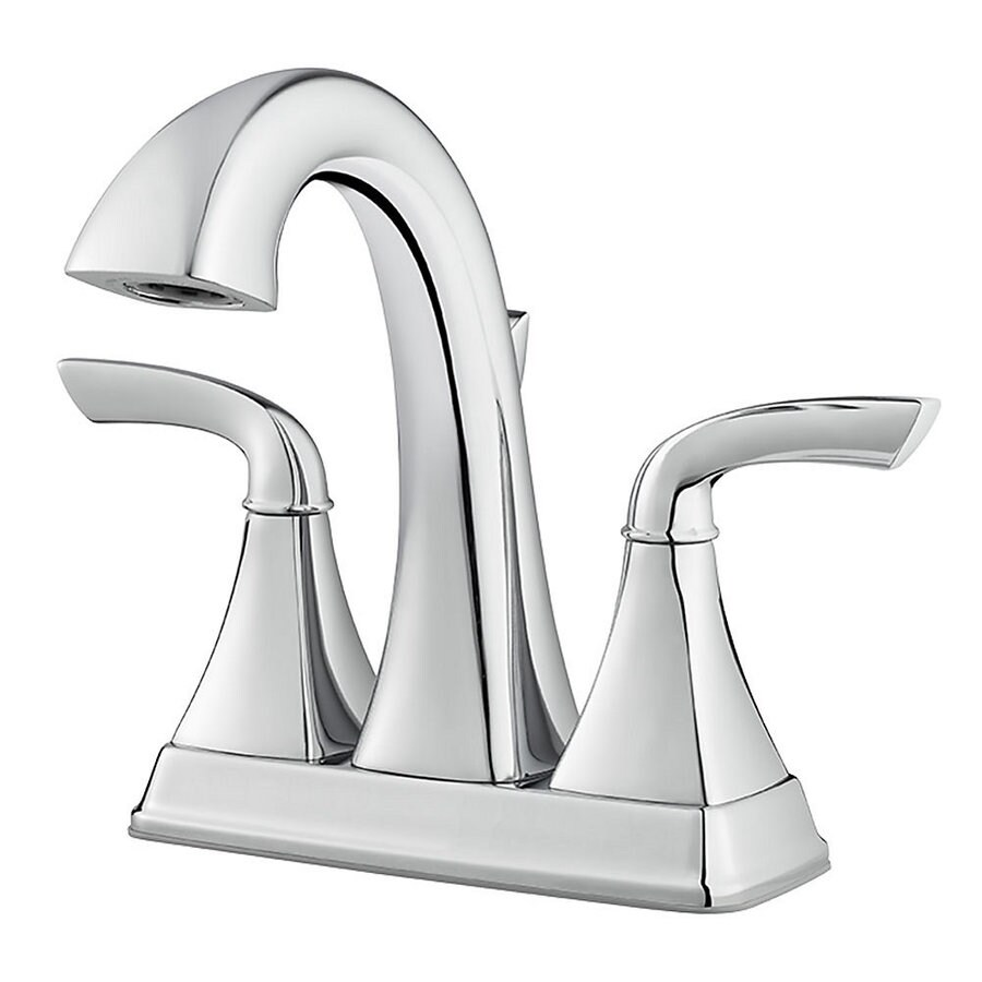 Shop Pfister Bronson Polished Chrome 2 Handle 4 In Centerset Bathroom Sink Faucet At