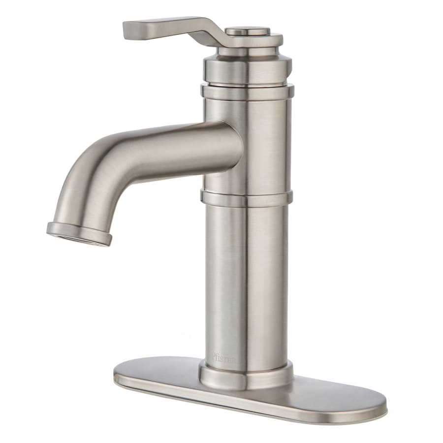 Shop Pfister Breckenridge Brushed Nickel 1 Handle Single Hole 4 In Centerset Bathroom Faucet At