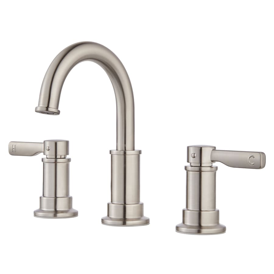 Bathroom Faucets Brushed Nickel Widespread : ... Brushed Nickel 2-Handle Widespread WaterSense Bathroom Faucet Drain