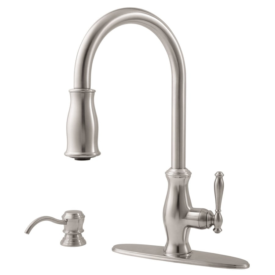 Pfister Hanover Stainless Steel 1-Handle Pull-Down Kitchen Faucet