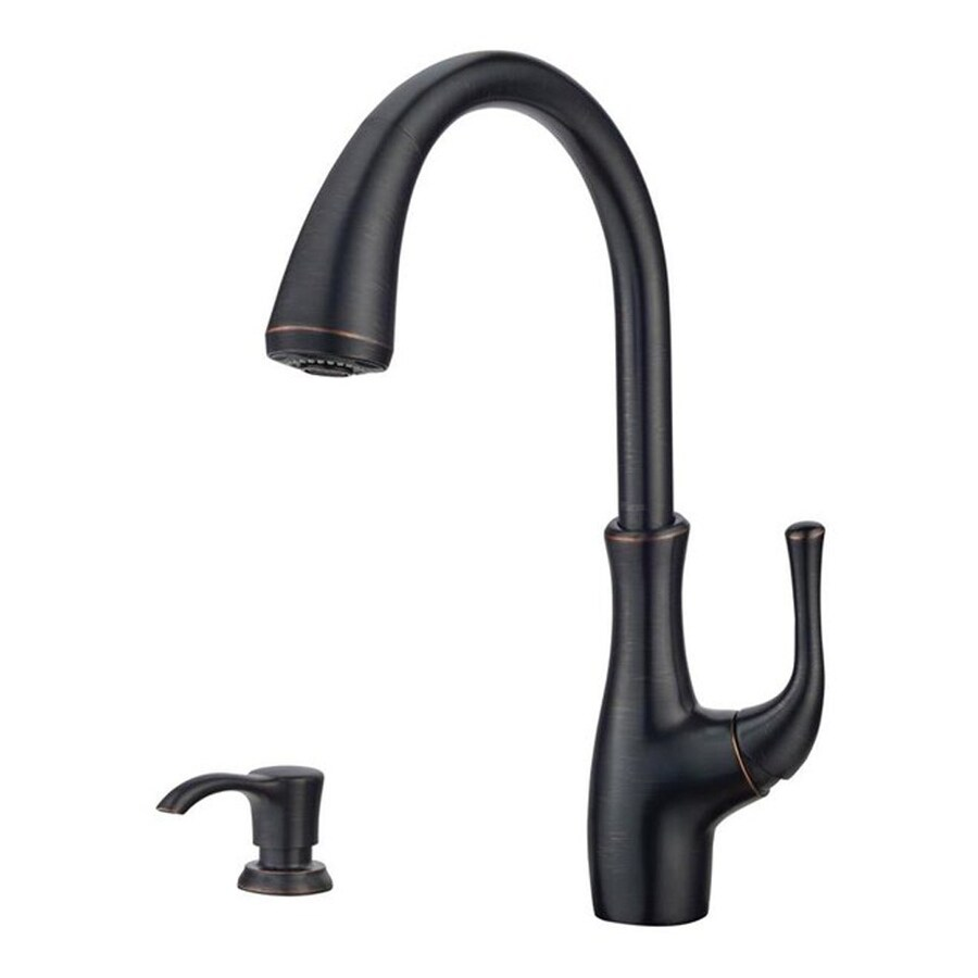 Pfister Vosa Tuscan Bronze 1-Handle Pull-Down Kitchen Faucet