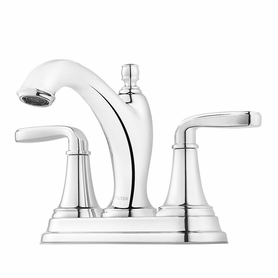 Shop Pfister Northcott Polished Chrome 2 Handle 4 In Centerset Bathroom Sink Faucet At