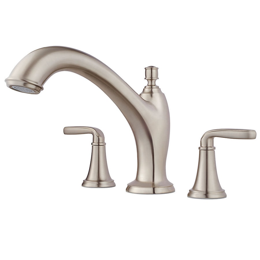 Pfister Northcott Brushed Nickel 2-Handle Adjustable Deck Mount Bathtub Faucet