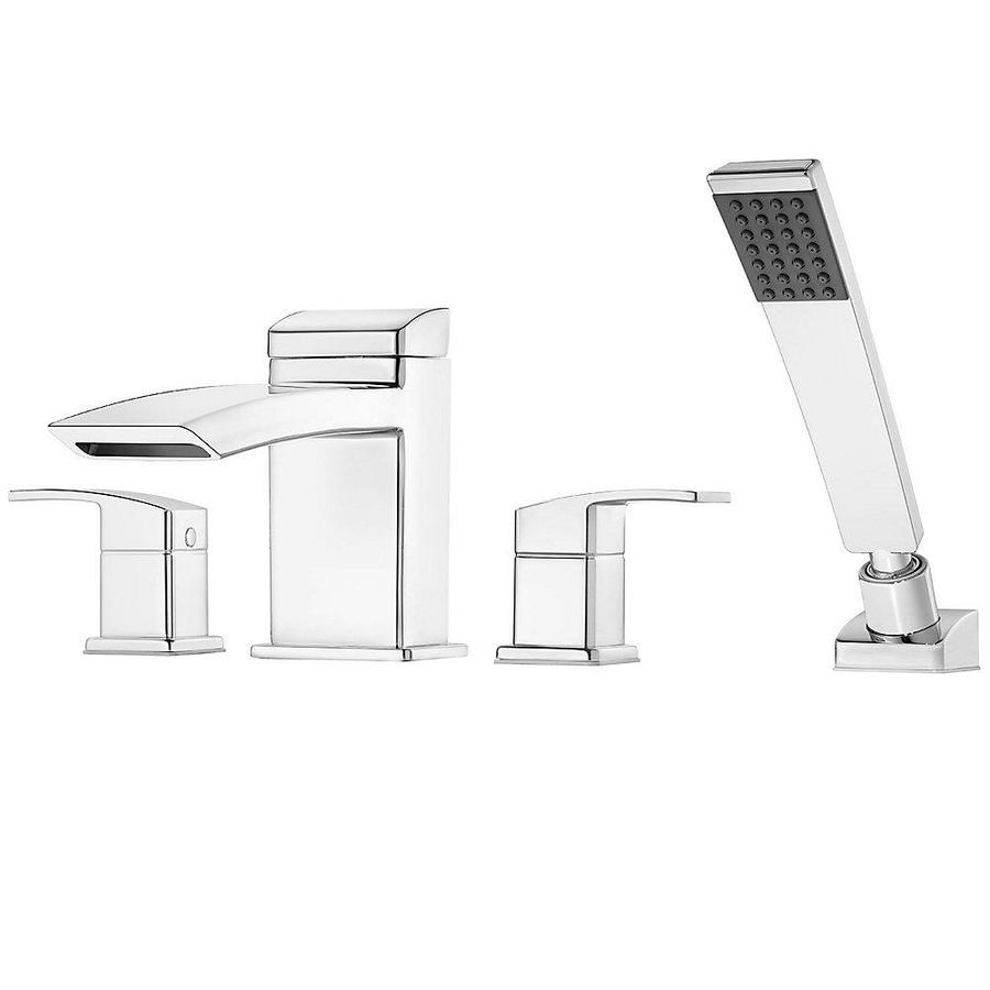 Pfister Kenzo Polished Chrome 2-Handle Adjustable Deck Mount Bathtub Faucet